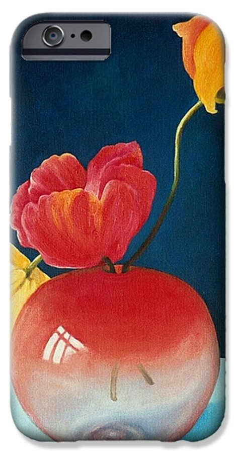 Still Life IPhone 6 Case featuring the painting Poppies by Trisha Lambi