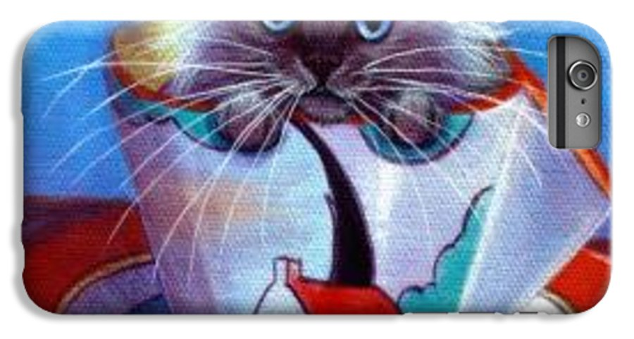 Whimsy IPhone 6 Plus Case featuring the painting Clarice Cliff Tea Time Himi by L Risor
