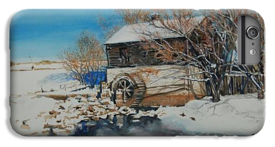 Mill IPhone 6 Plus Case featuring the painting Grants Old Mill by Susan Moore