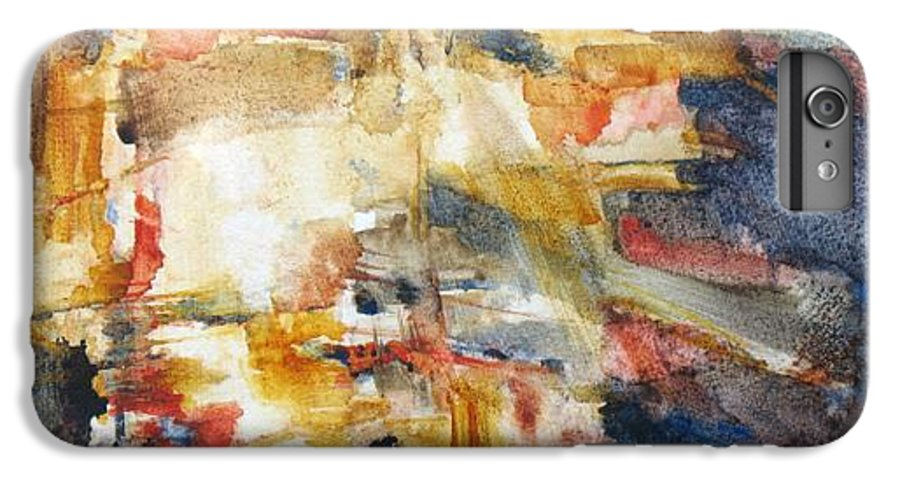 Abstract IPhone 6 Plus Case featuring the painting Illumination by Juanita Hagberg