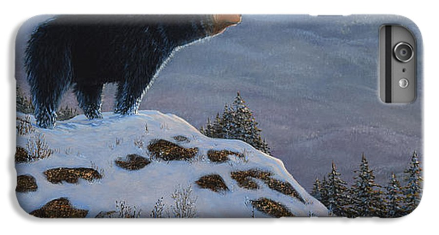 Wildlife IPhone 6 Plus Case featuring the painting Last Look Black Bear by Frank Wilson