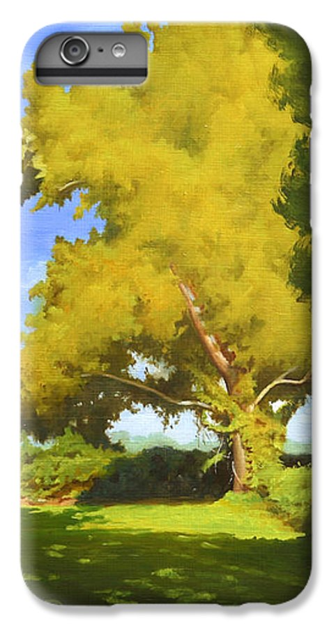 Sycamore Tree IPhone 6 Plus Case featuring the painting Sycamore by Gary Hernandez