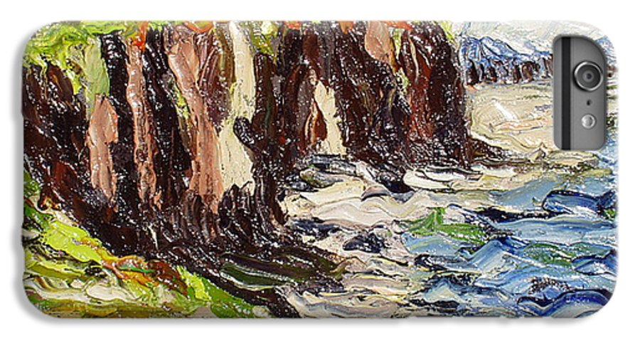 Abstract Paintings IPhone 6 Plus Case featuring the painting Cliff by Seon-Jeong Kim