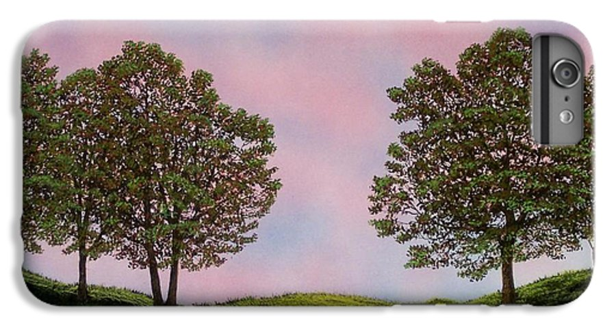 Landscape IPhone 6 Plus Case featuring the painting Colors Of Dawn by Frank Wilson
