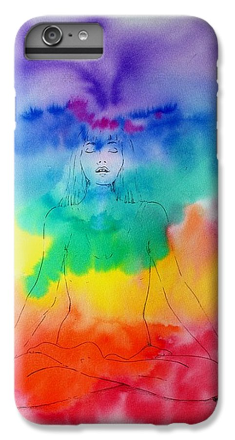 Colour IPhone 6 Plus Case featuring the painting Colour Meditation by Janice Gell