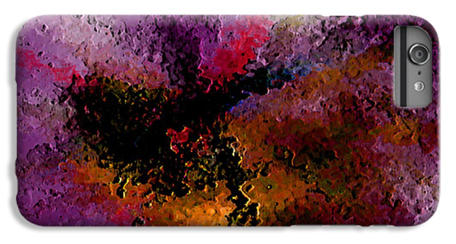 Abstract IPhone 6 Plus Case featuring the digital art Damaged But Not Broken by Ruth Palmer