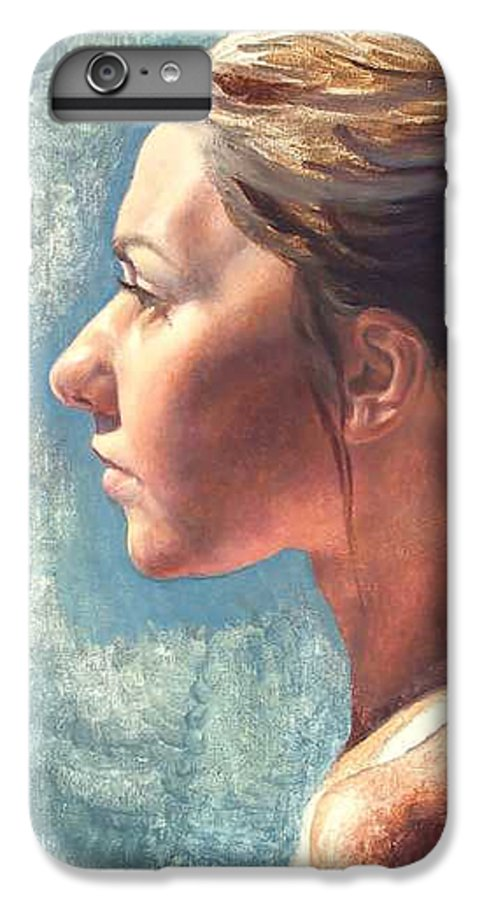 Portrait IPhone 6 Plus Case featuring the painting Fresh Pose by Deborah Allison