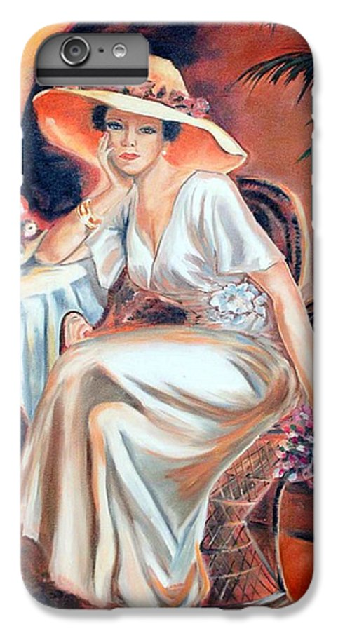 Woman IPhone 6 Plus Case featuring the painting Patience In Beauty by Margaret Fortunato