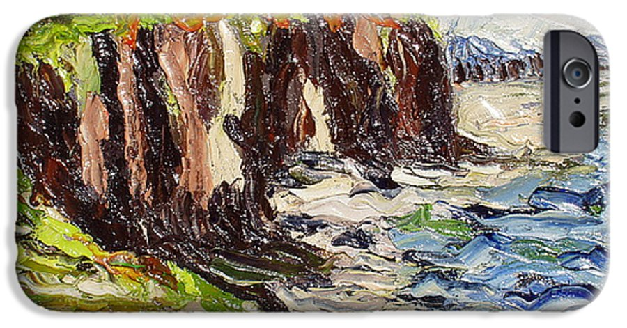 Abstract Paintings IPhone 6s Case featuring the painting Cliff by Seon-Jeong Kim