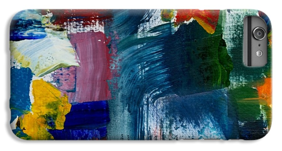 Abstract Collage IPhone 6s Plus Case featuring the painting Abstract Color Relationships L by Michelle Calkins