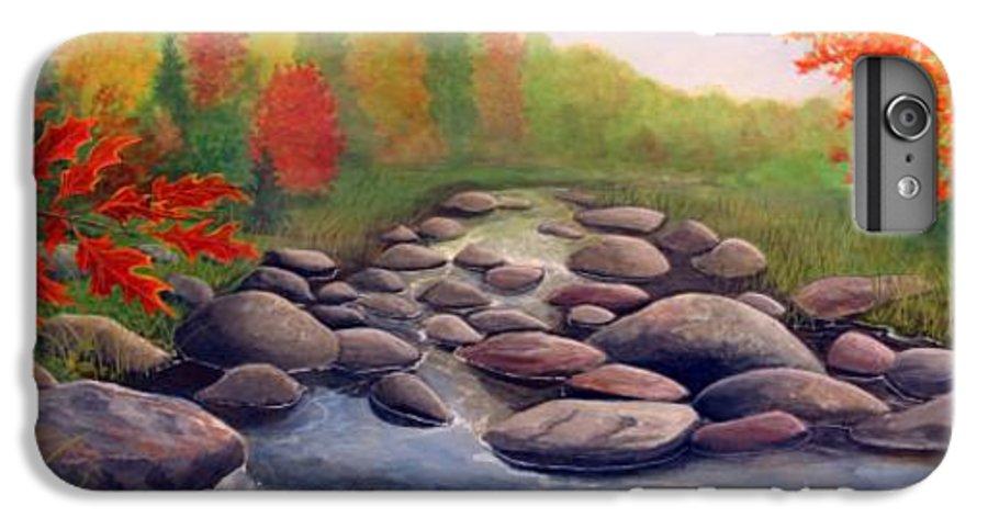 Rick Huotari IPhone 6s Plus Case featuring the painting Cherokee Park by Rick Huotari