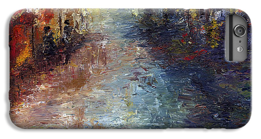 Cityscape IPhone 6s Plus Case featuring the painting Fade Into Light by Laura Swink
