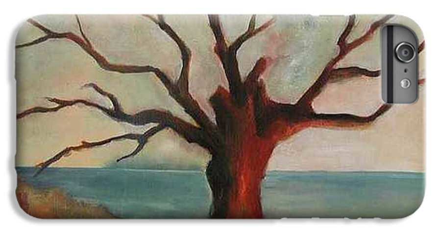 Oak Tree Inspired By Katrina Damage Along The Coast IPhone 6s Plus Case featuring the painting Lone Oak - Gulf Coast by Deborah Allison