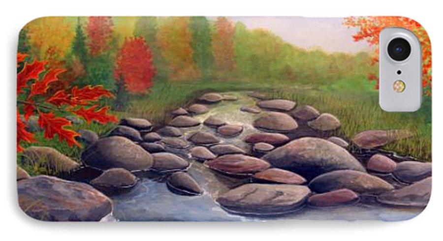 Rick Huotari IPhone 7 Case featuring the painting Cherokee Park by Rick Huotari