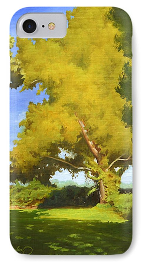 Sycamore Tree IPhone 7 Case featuring the painting Sycamore by Gary Hernandez