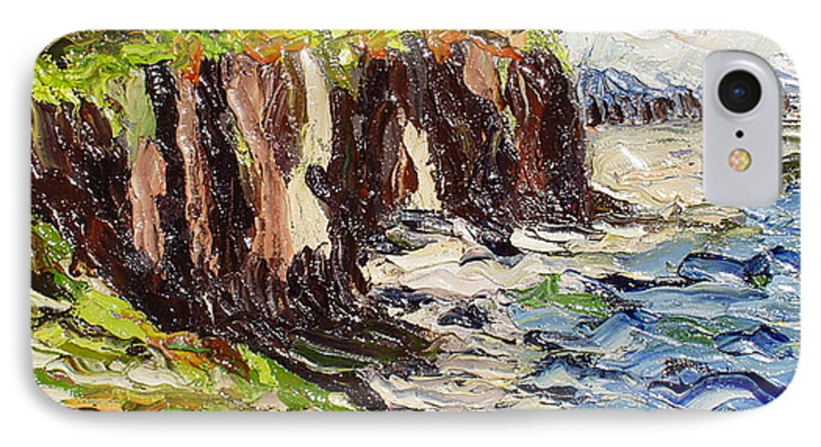 Abstract Paintings IPhone 7 Case featuring the painting Cliff by Seon-Jeong Kim