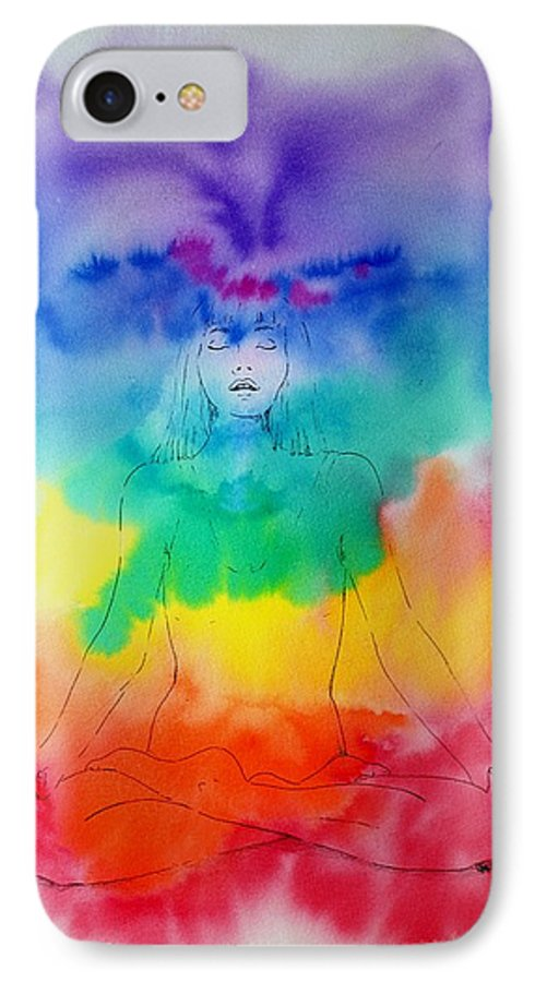 Colour IPhone 7 Case featuring the painting Colour Meditation by Janice Gell