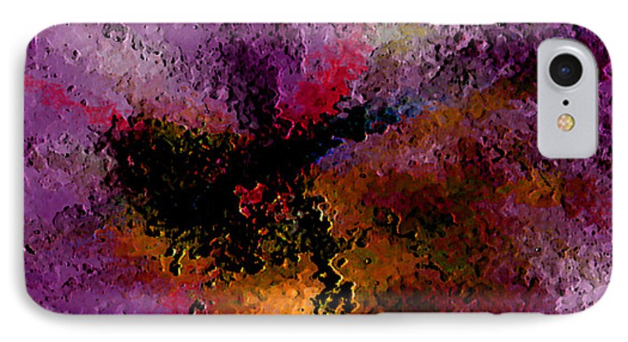 Abstract IPhone 7 Case featuring the digital art Damaged But Not Broken by Ruth Palmer