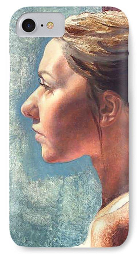 Portrait IPhone 7 Case featuring the painting Fresh Pose by Deborah Allison
