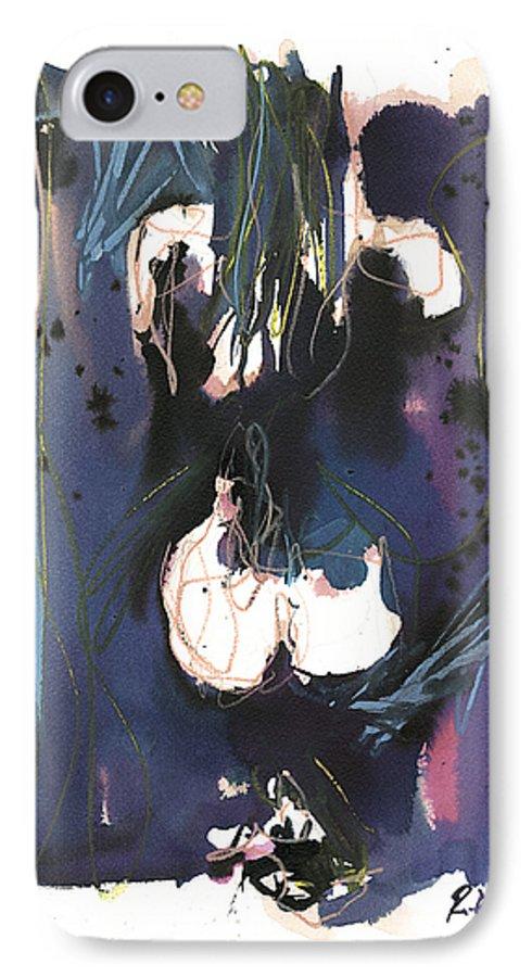 Figure IPhone 7 Case featuring the painting Kneeling by Robert Joyner