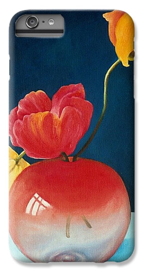 Still Life IPhone 7 Plus Case featuring the painting Poppies by Trisha Lambi