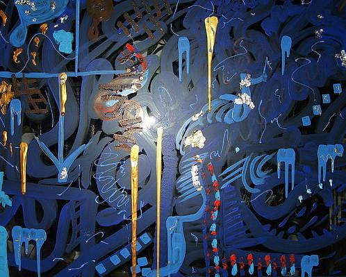 Art Poster featuring the painting Art Fusing 2 by Svetlana Vinokurtsev