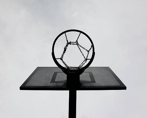Horizontal Poster featuring the photograph Basketball Hoop by Christoph Hetzmannseder