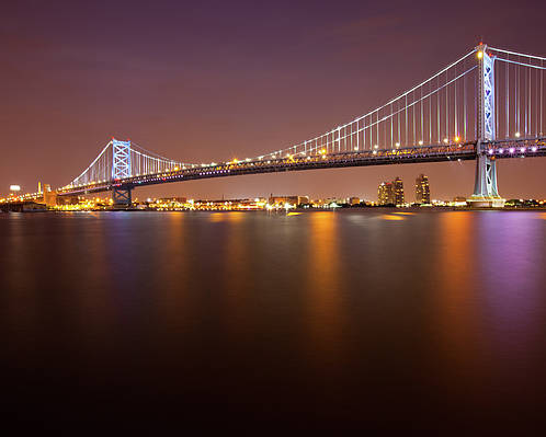 Horizontal Poster featuring the photograph Ben Franklin Bridge by Richard Williams Photography