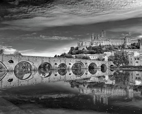 Horizontal Poster featuring the photograph Beziers Cathedral by Photograph by Paul Atkinson