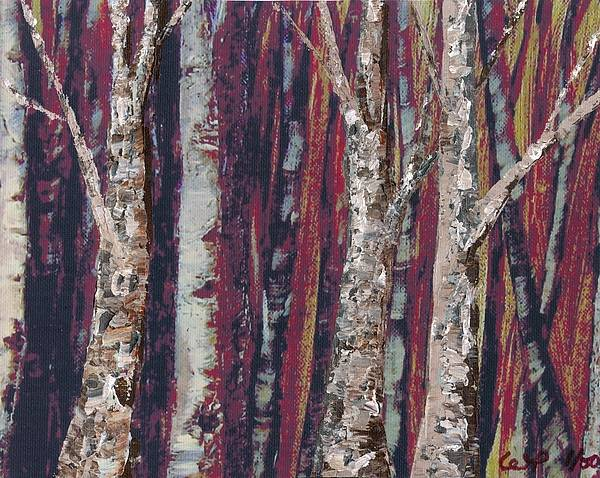 Trees Poster featuring the painting Big Trees Keep On. . . by Wanda Pepin