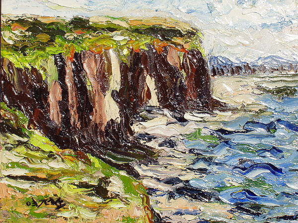 Abstract Paintings Poster featuring the painting Cliff by Seon-Jeong Kim