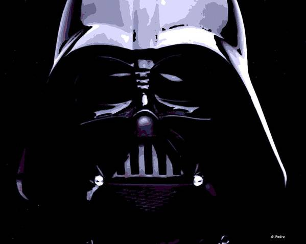 Darth Vader Poster featuring the photograph Dark Side by George Pedro