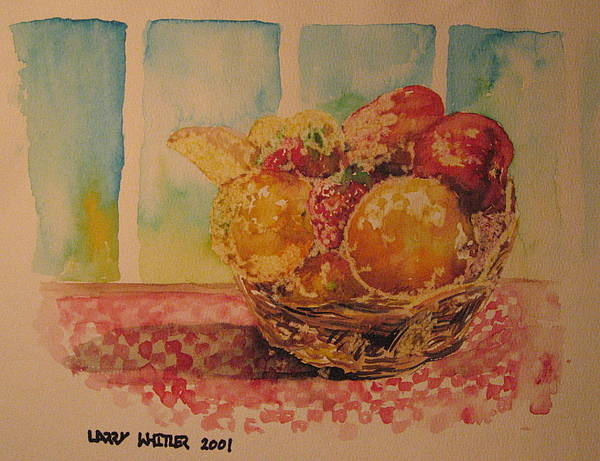 Fruit Poster featuring the painting Fruitbasket by Larry Whitler