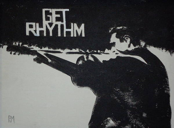 Johnny Cash Poster featuring the painting Get Rhythm by Pete Maier