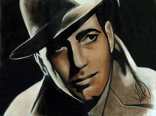 Portrait Poster featuring the painting Humphrey Bogart by Elizabeth Silk