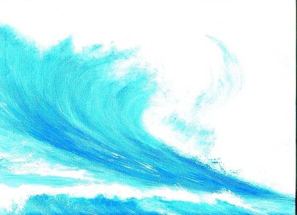 Surf Poster featuring the painting In My Dreams by Laura Johnson