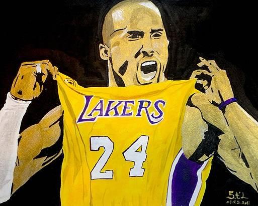 Kobe Bryant Poster featuring the painting Kobe Bryant by Estelle BRETON-MAYA