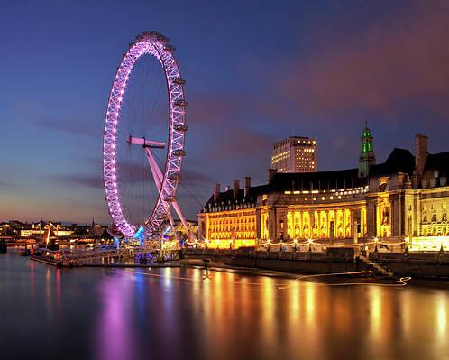 Horizontal Poster featuring the photograph London Eye by Stuart Stevenson photography
