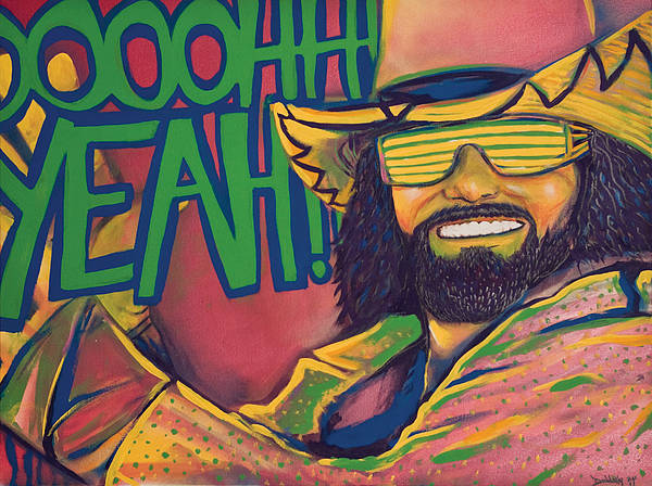 Macho Man Poster featuring the painting Macho Man by Derek Donnelly