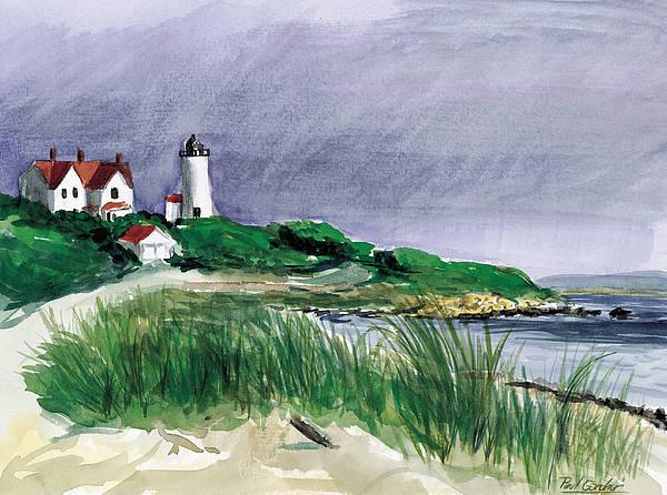 Nobska Light Poster featuring the painting Nobska Light by Paul Gardner