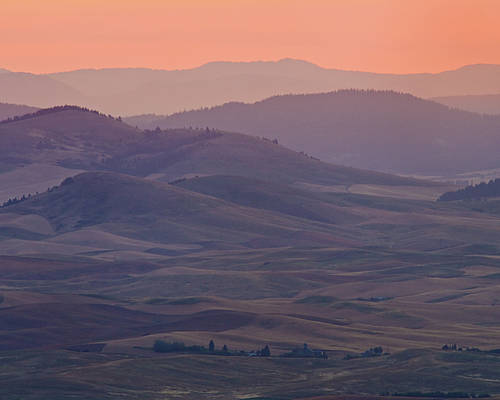 Horizontal Poster featuring the photograph Palouse Morning From Steptoe Butte by Donald E. Hall