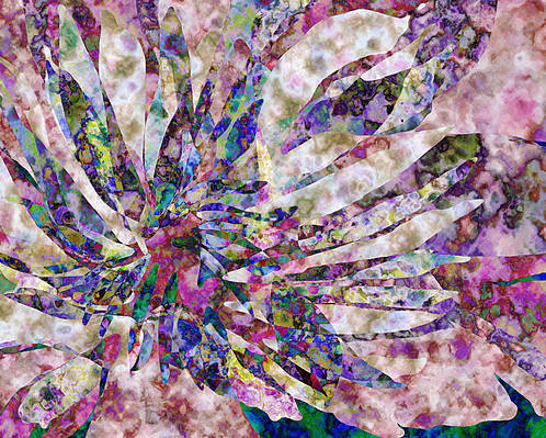 Flower Poster featuring the digital art Peony Burst by Gae Helton