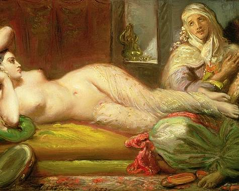 Reclining Poster featuring the painting Reclining Odalisque by Theodore Chasseriau