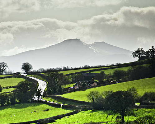 Horizontal Poster featuring the photograph Road To Brecon Beacons by Ginny Battson