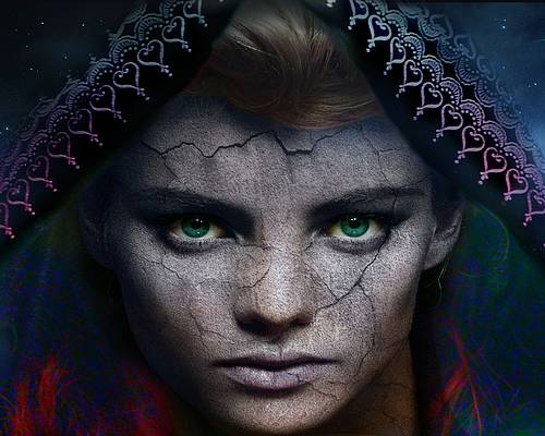 Cards Poster featuring the digital art The Eye Of The Soul by Shadowlea Is