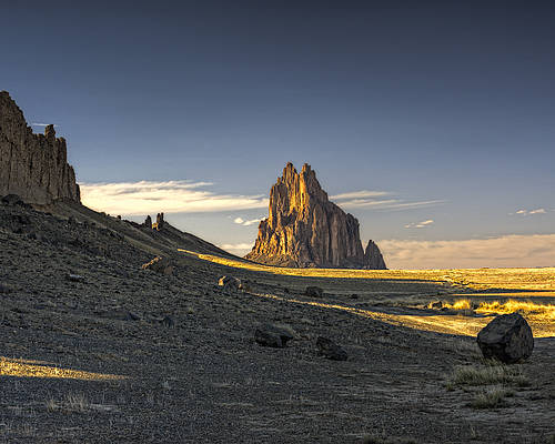 Lava Rock Poster featuring the photograph This Is New Mexico No. 2 - Shiprock World Wonder by Paul W Sharpe Aka Wizard of Wonders