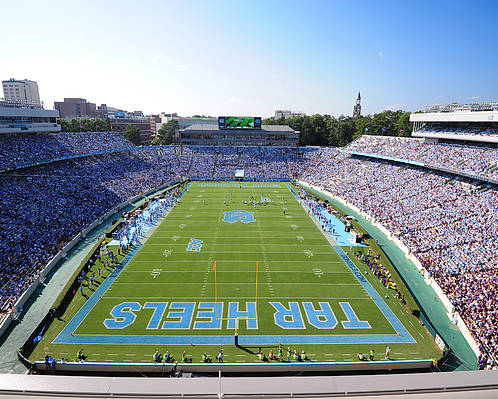 North Carolina Poster featuring the photograph Unc Kenan Stadium Endzone View by Replay Photos