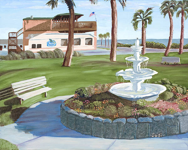 Landscape Poster featuring the painting Veterans' Park by Sodi Griffin
