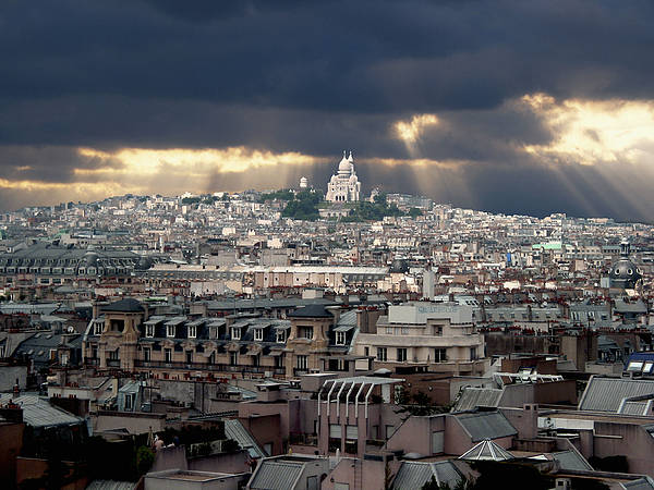France Poster featuring the photograph Vue De La Butte Montmartre.roofs Of Paris by Bernard Jaubert