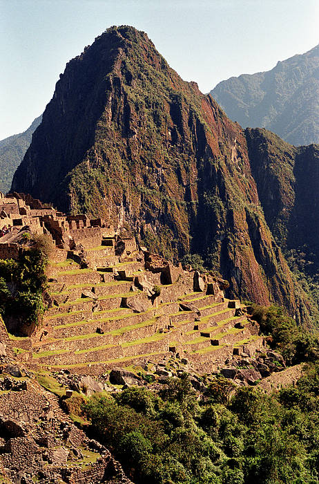 Vertical Poster featuring the photograph The Ruins Of Machu Picchu, Peru, Latin America by Brian Caissie